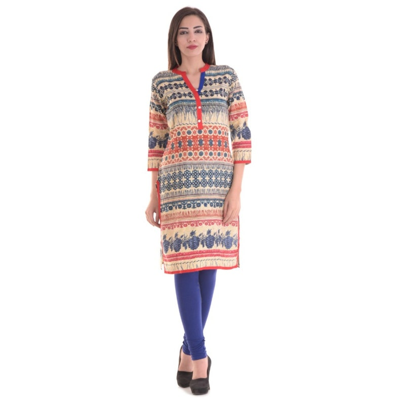 64305cb30ba Denika Handicrafts Ladies kurti Indian casual kurti designer | Etsy