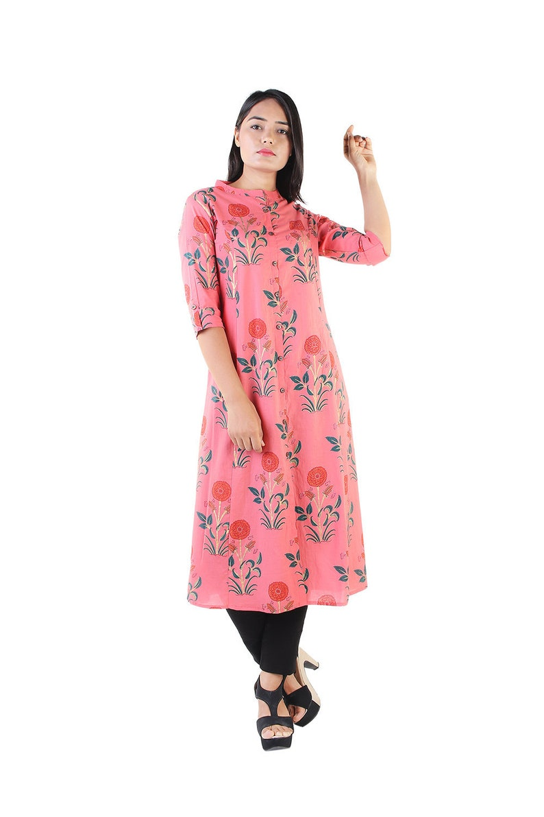 253f95ed79a5 Indian Party wear Designer Block Printed Kurti Kurta Dress