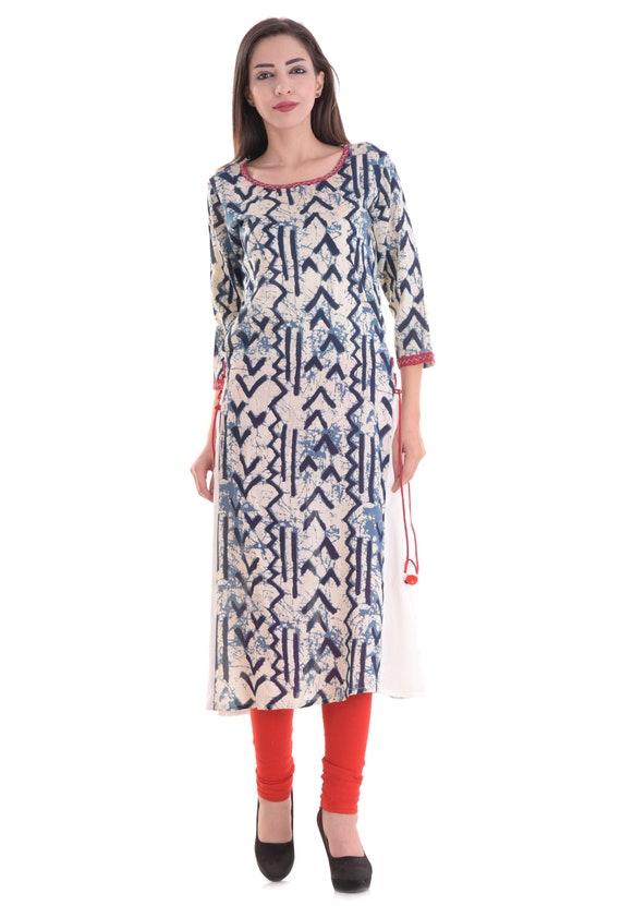 """Women Indian Kurta Tunic Kurti Long Top Shirt Dress 111C UK Size-10//M-38/"""""""
