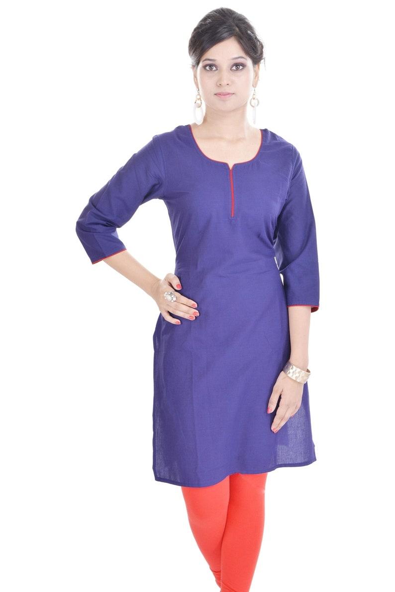 4de68e0d3be Indian Woman 100% Cotton tunic Casual & Regular Wear Kurti | Etsy
