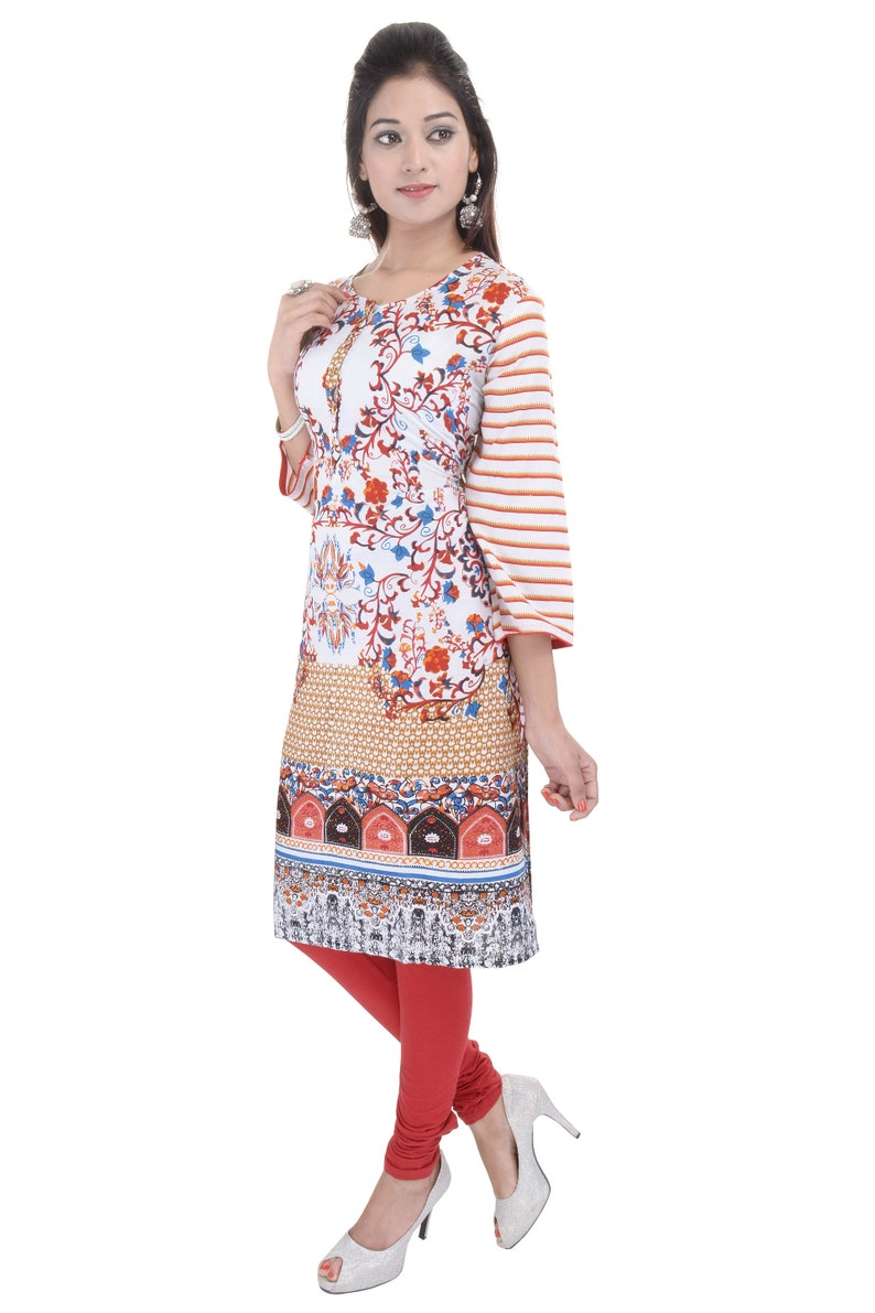 Stylish Printed Cotton  Kurti Kurta Top For Women and Girls 2480