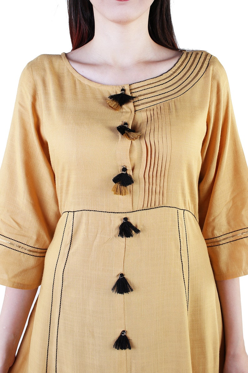 Denika Handicrafts Indian Designer Rayon Fabric Kurti Kurta Dress For Women 8008