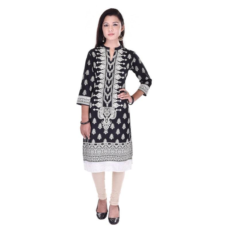 cc5b1d7ef79 Denika Handicrafts Indian casual kurti kurta women ladies | Etsy