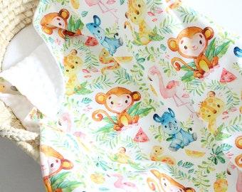 Light brown minky fabric by the yard baby blanket baby girl baby boy nursery bedding Plush Fabric Shannon Fabrics Hide Safari Minky