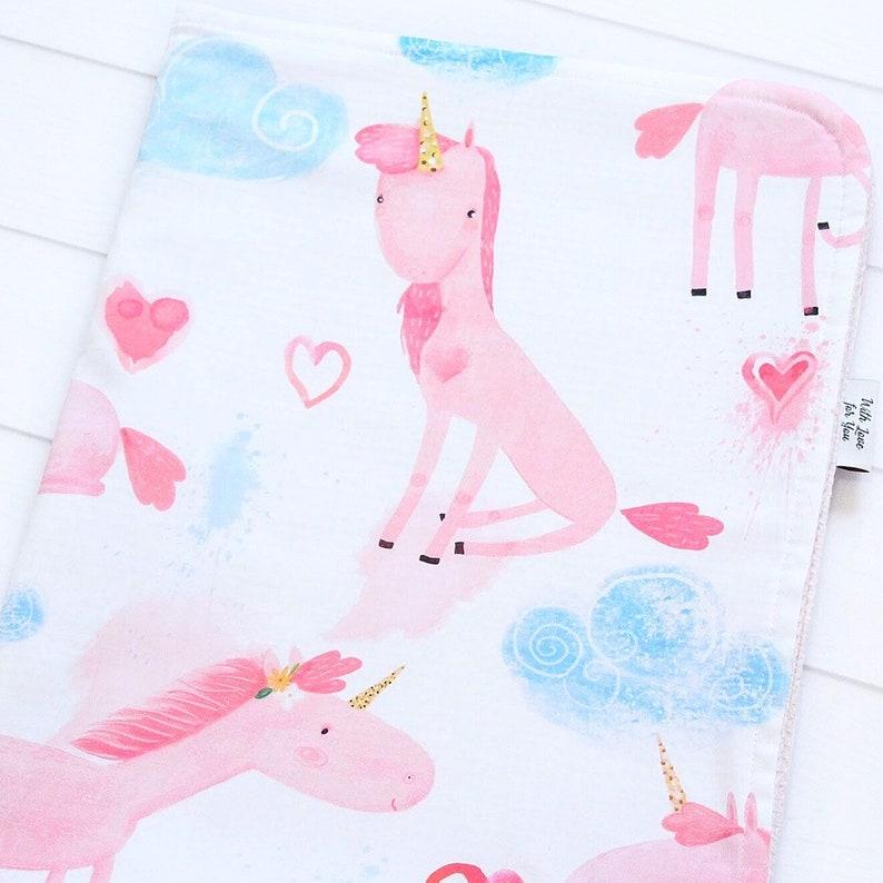 Unicorn Waffle Baby Girl Blanket Cotton Summer Blanket Unicorn Crib Bedding Cloud Stroller Blanket Pink Unicorns Receiving Blanket