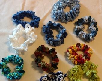crochet ponytail holders