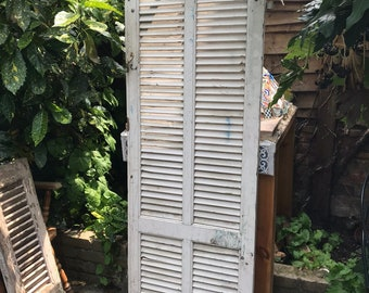Large Rustic Solid Wood Distressed French Shutter