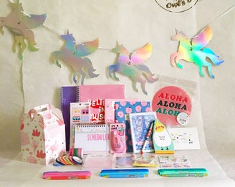 Owl's Box Decorative Stationery Mixed Gift Set School Office Supplies +Free Gift