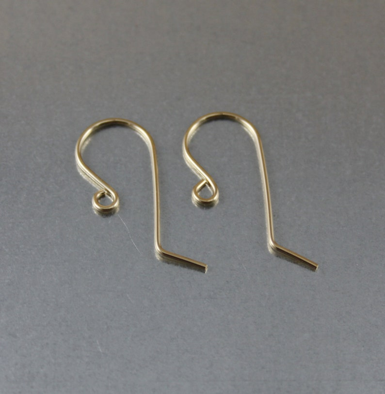 25 x 12 mm Dangle Ear Wires 14K Gold Filled French Ear Wires 5 pairs