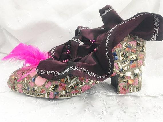 Chaussure mosaïque multicolore l'obtention du diplôme diplôme diplôme | Annie 9ec41e