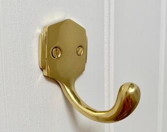 Cast brass Art Deco coat hooks hook hangers