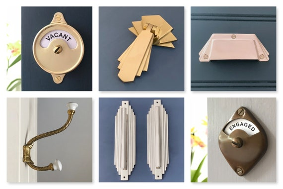 Sets Large 12 Brass Wood Door Pull Handles Matching Finger Plates