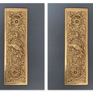 NICKEL PLATED ARTS /& CRAFTS PARROT FINGER DOOR PUSH PLATES KNOBS HANDLES