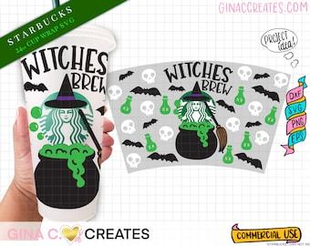 Witches Brew Starbucks Cup Wrap SVG, Halloween Starbucks svg