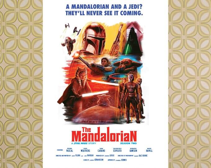 "Mandalorian Season 2 ""Spaghetti Western"" Poster"