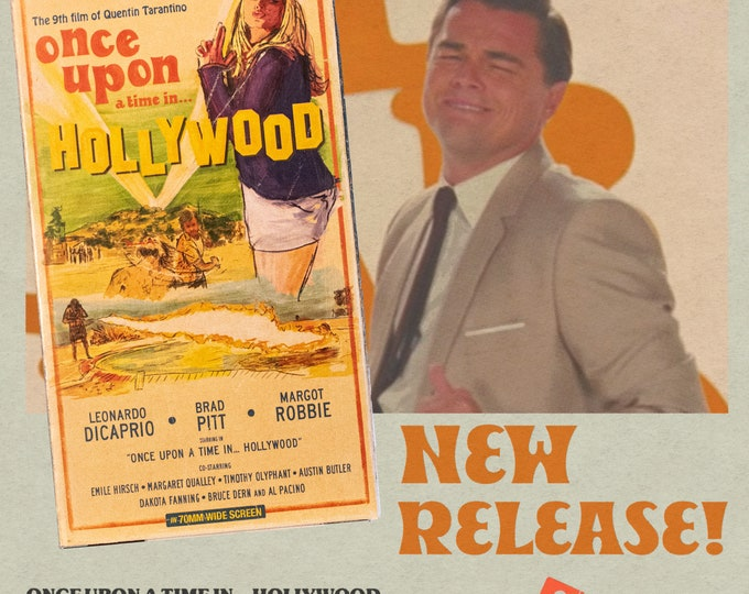 Once Upon A Time in...Hollywood VHS box art VARIANT 2