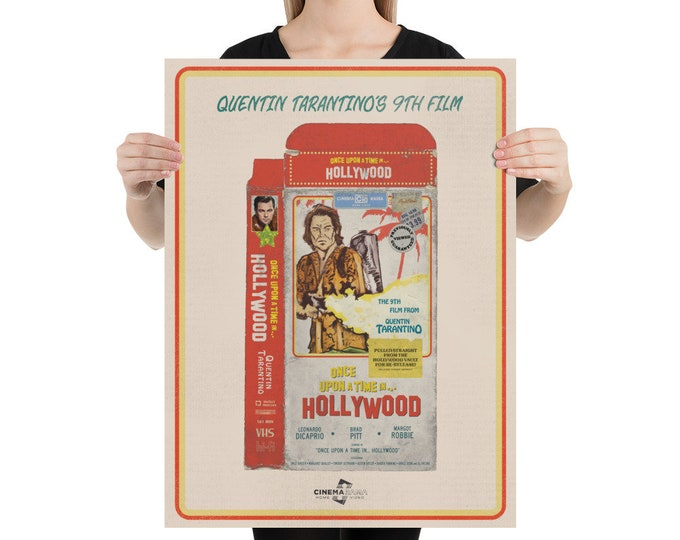 Once Upon A Time in... Hollywood VHS poster