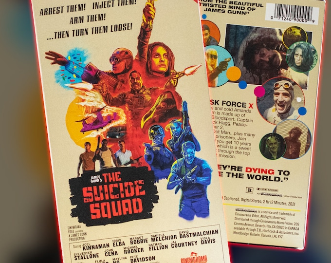 The Suicide Squad VHS slipcase