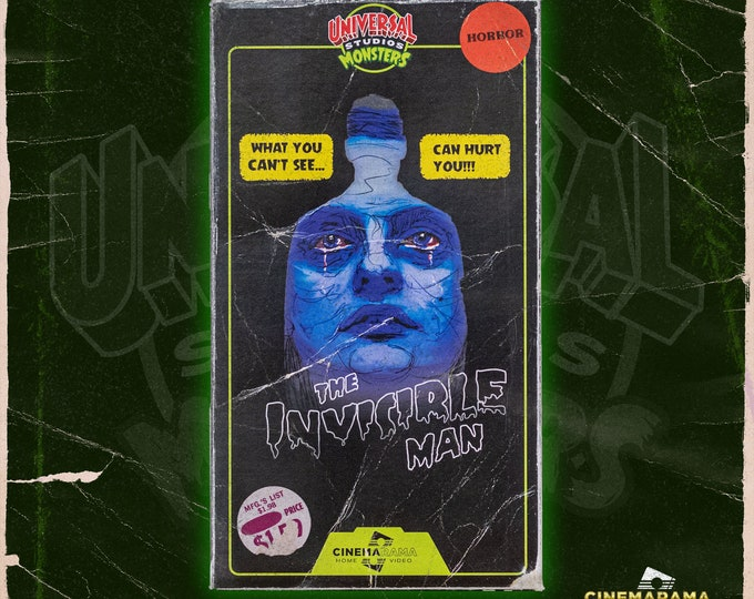 The Invisible Man VHS slipcase Variant 2