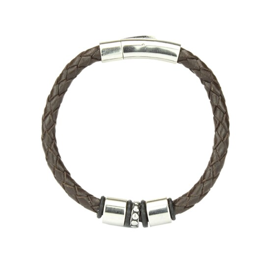 Leather Mens Necklace Surfer Choker Leather Necklace for Men with Bayonet Clasp Length 27