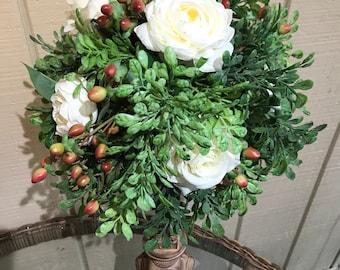 Everyday Flower Arrangements, Candlestick Arrangements, Everyday Decor,  Tabletop Decor, Flower Arrangements, Neutral Flower Arrangements