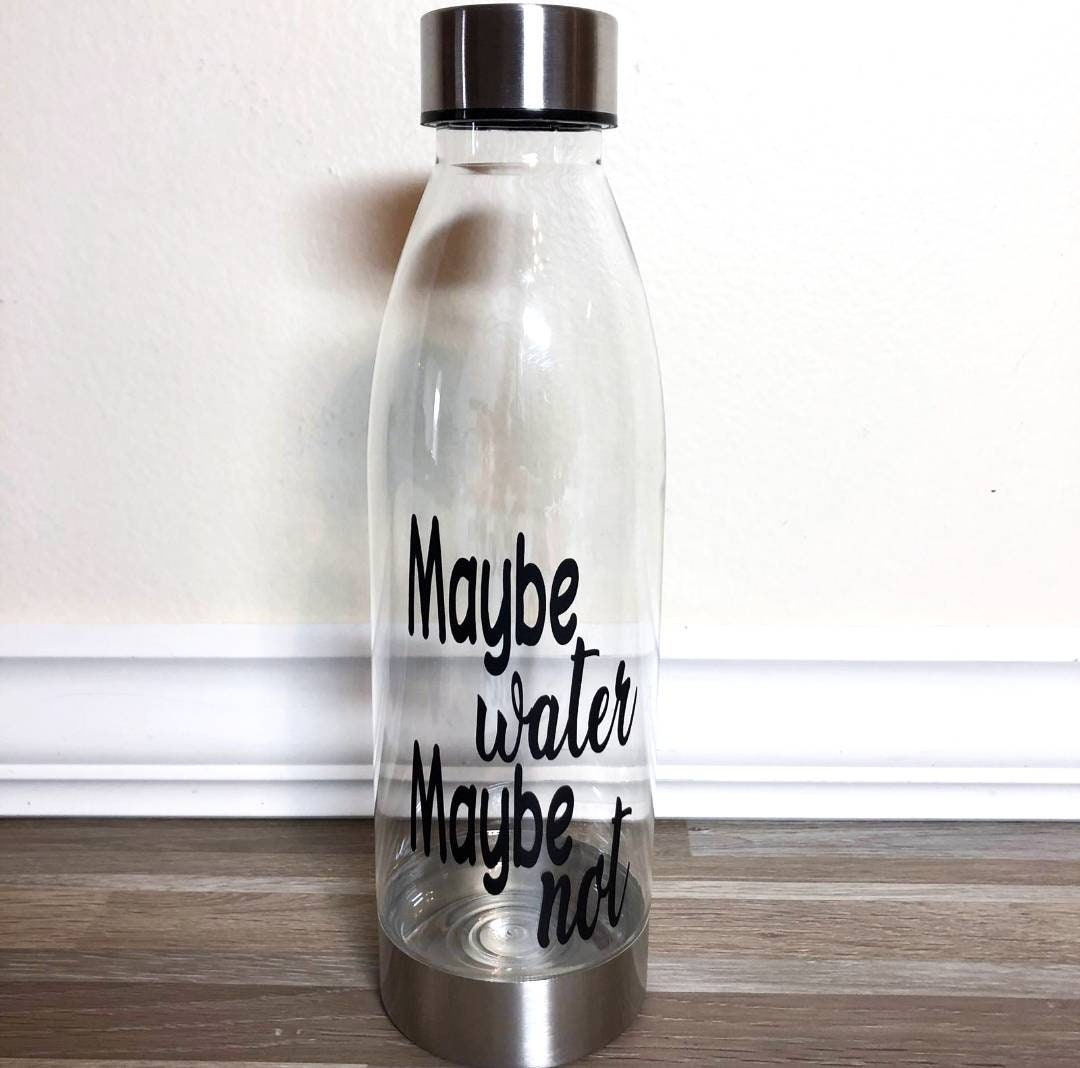 Drink Your Effing Water Glitter Dipped Water Bottle  Glitter Dipped Water Bottle  Drink Your Effing Water Bottle  Hydrate