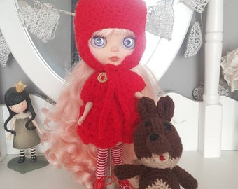 Blythe doll Little red Riding hood Outfit