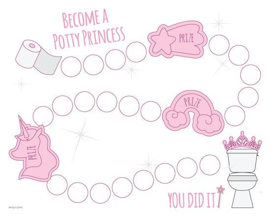cute toddler princess potty toilet training sticker reward