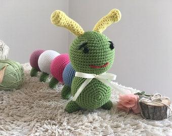 CROCHET PATTERN, Caterpillar Ivy, amigurumi toy Caterpillar Ivy, amigurumi toy