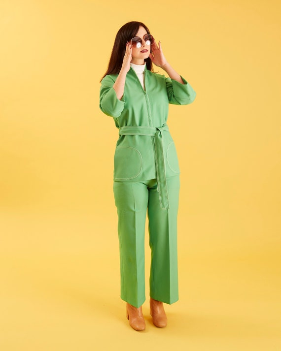 Green 70s Vintage Women's Suit Separates