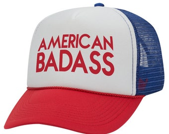 American Badass - 4th of July - Trucker Hat 1d18d35ec741
