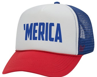 6131e3b11fa75 Merica - 4th of July - Trucker Hat