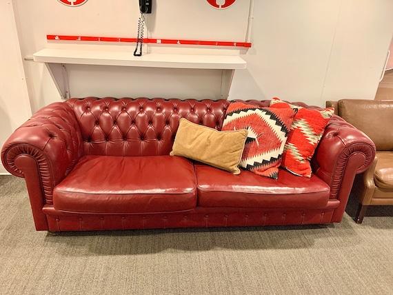Marvelous Vintage Chesterfield Sofa Dark Red Maroon Forskolin Free Trial Chair Design Images Forskolin Free Trialorg