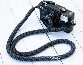 Paracord camera strap Abstract High Strength Nylon Rope HandMade Camera Strap Abstract