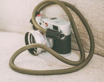 Rope Camera Strap HandMade Army Green 9mm