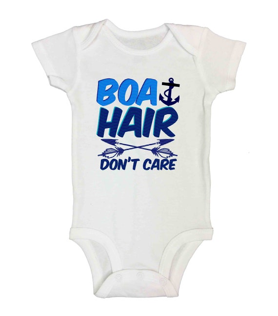BOAT HAIR DON/'T CARE Cute Kids Bodysuits and T Shirts