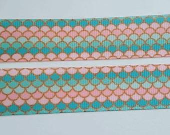 "Mermaid grosgrain ribbon 7/8"""