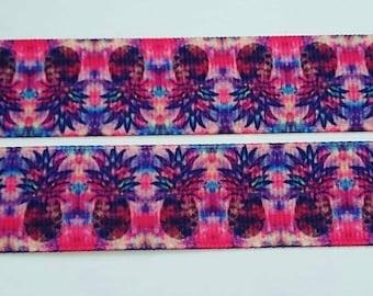 """Pineapple grosgrain ribbon 7/8"""""""