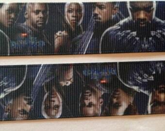"Black Panther grosgrain Ribbon 1"""