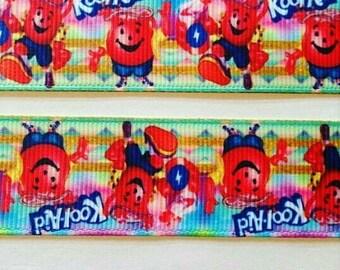 "Kool-Aid grosgrain ribbon 7/8"""