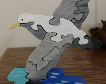 Seagull wooden puzzle