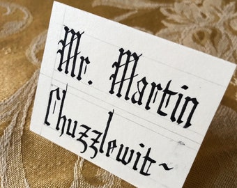 400 Custom Blackletter (Gothic) Calligraphy Place Cards