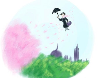 Wind's in the East   Mary Poppins   Art print