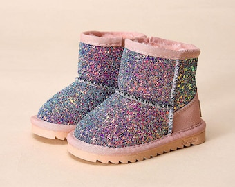 Multicolored Glitter Boots