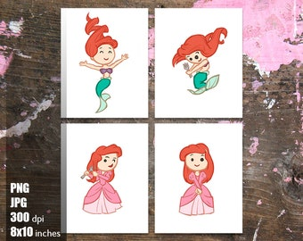 The Little Mermaid Clipart Collection