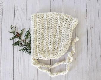 Crochet Pixie Bonnet - 2T/4T Ready-to-Ship