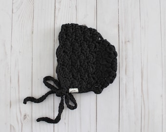 Crochet Lace Bonnet - Ready-to-Ship