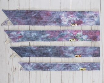 Lavender Blues Ice-Dye Headwraps - ALL SIZES