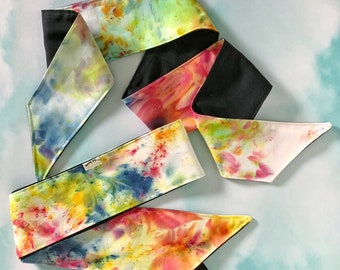 Hand Dyed Rainbow Headwraps