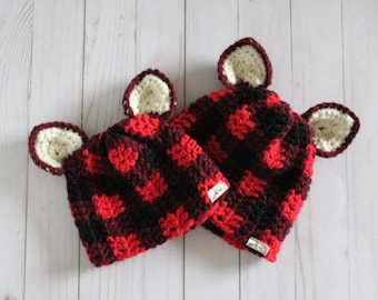 Buffalo Plaid Animal Toque Made-to-Order